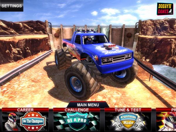 Игры гонки на грузовиках по бездорожью видео